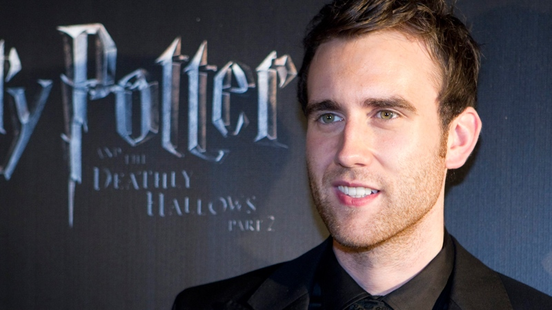 Matthew Lewis, who plays the character Neville Longbottom in the Harry Potter films, poses following the Canadian premiere of 'Harry Potter and the Deathly Hallows: Part 2' in Toronto Tuesday, July 12, 2011. (Darren Calabrese / THE CANADIAN PRESS)
