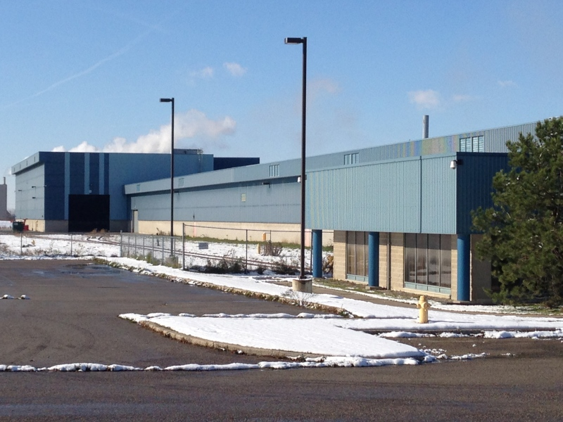 The former Dana Canada auto parts plant in St. Marys, Ont., will soon house a tire remanufacturing facility. (Brian Dunseith / CTV Kitchener)