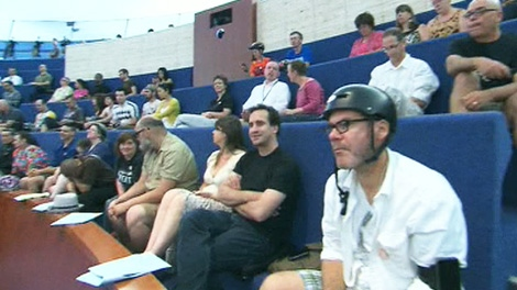 Cyclists attend a councillor debate over what to do with the Jarvis Street bike lanes on Wednesday, July 13, 2011.