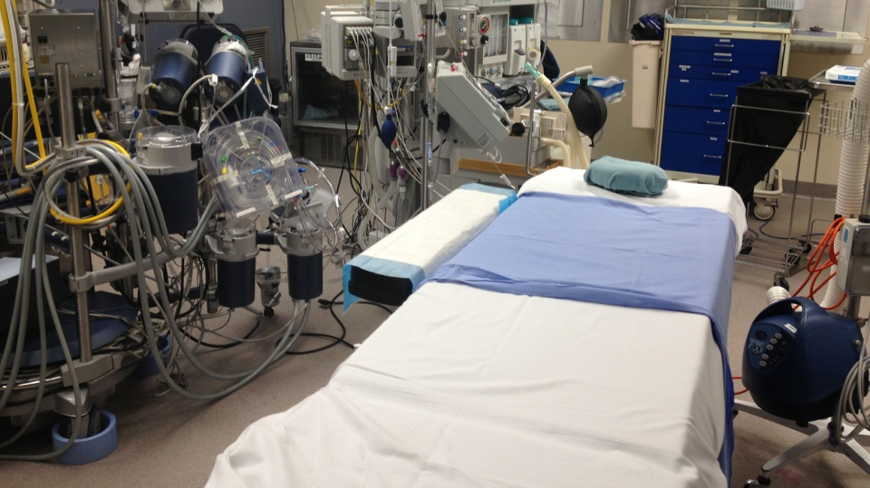 A cardiac operating room is seen at St. Mary's General Hospital in Kitchener, Ont., on Monday, Nov. 11, 2013. (David Imrie / CTV Kitchener)