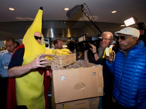 Rob Ford Toronto city hall banana