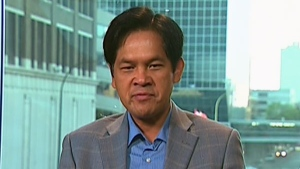 Prof. Sorpong Peou, who had long assumed his father had been murdered by the Khmer Rouge, appears on Canada AM, Thursday, July 14, 2011.