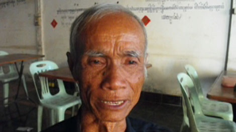Nam, the father of Sorpong Peou, is seen in this undated image taken from video.