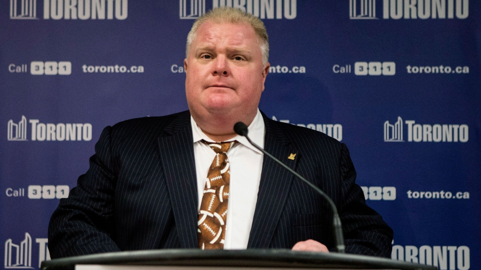 Toronto Mayor Rob Ford speaks to the media at a news conference on Thursday, Nov. 14, 2013. (Chris Young / THE CANADIAN PRESS)