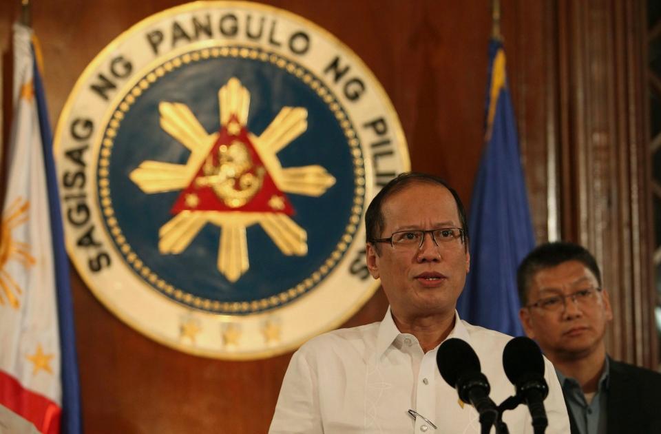 Philippine President Benigno Aquino III speaks about Typhoon Haiyan during a nationally televised address at the Malacanang palace in Manila, Philippines on Thursday Nov. 7, 2013. (AP / Malacanang Photo Bureau, Robert Vinas)