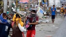 Typhoon survivors in Talcoban