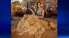 TV host sparks anger after posting photo of hunted lion