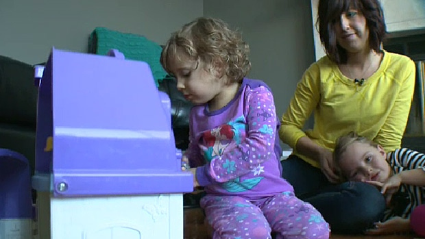 Kyla MacNeil was diagnosed with Leukemia just days after her mother, Amber, finished radiation for a brain tumour.