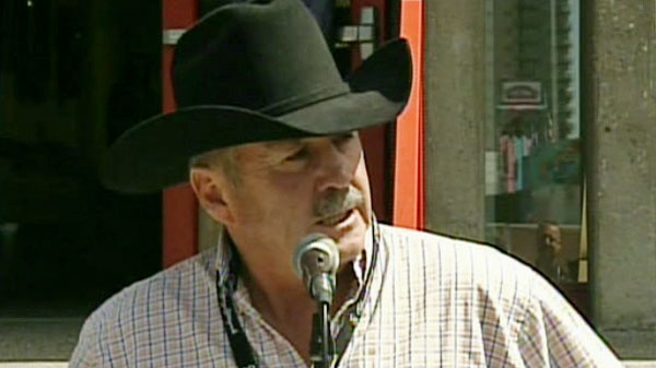 Cliff Cunningham speaks at a press conference in Calgary on Saturday, July 16, 2011.