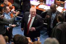 Rob Ford Toronto city council mayor crowd chamber