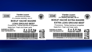 The Canadian Food Inspection Agency has announced the recall of two varieties of Viandes Lauzon beef products because of possible E. coli contamination. (CFIA)