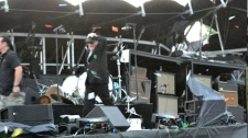 At least two in hospital after Bluesfest stage collapse