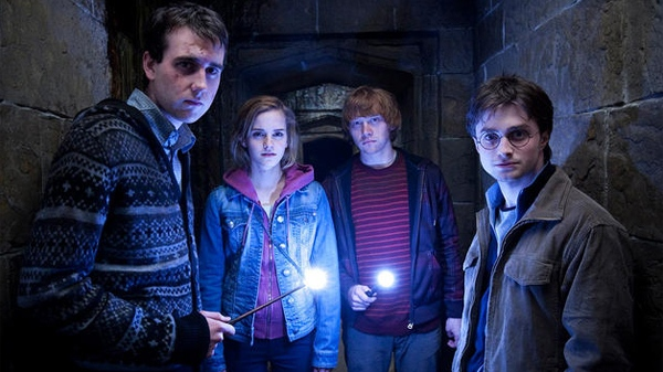 Matthew Lewis, Emma Watson, Rupert Grint and Daniel Radcliffe in Warner Bros. Pictures' 'Harry Potter and the Deathly Hallows - Part 2'