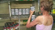 The Parkdale Community Food Bank faces empty shelves on July 18, 2011, as it struggled to stay open.