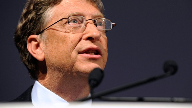 Microsoft founder and philanthropist Bill Gates speaks at the Global Alliance for Vaccines and Immunisation, GAVI, conference in London, June 13, 2011. (AP / Paul Hackett)