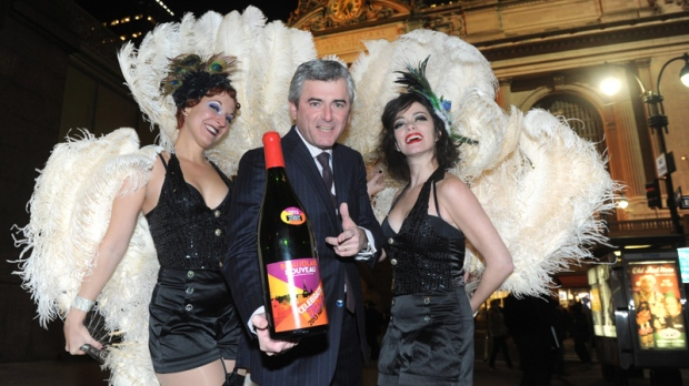 Beaujolais Nouveau wine celebrated