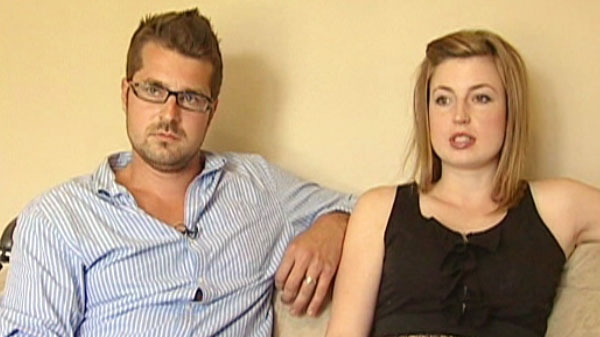 David Weber, left and his wife Geneviev, right, speak with CTV News about their ordeal.