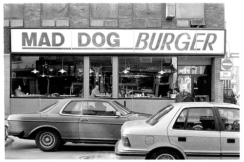 Mad Dog was so popular that he fronted a burger chain named in his honour in the late 1980s. (Credit: Kate McDonnell, Montreal City Weblog)