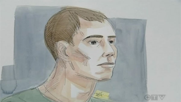 A courtroom sketch artist's rendition of Joseph Mercier at his arraignment Tuesday.