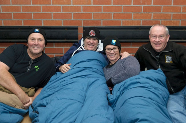 Prominent figures spend night on the streets