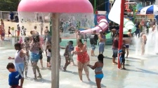 Kids keep cool at the waterpark at Ontario Place on Wednesday, July 20, 2011.