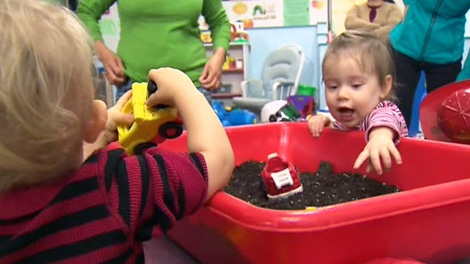 Children playing in a Toronto daycare.