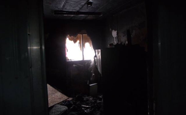 A room in a shelter that recently caught fire in Attawapiskat is shown in this undated photo. (Rosiewoman / netnewsledger.com)