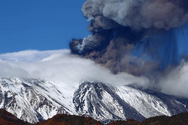 Mount Etna erupts again