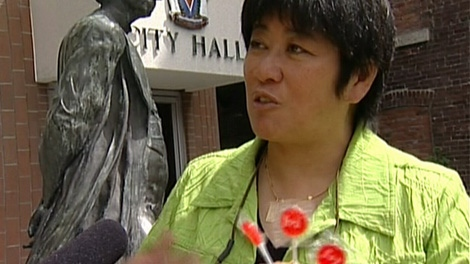 Victoria City Councillor Charlayne Thornton-Joe wants to hand out cherry candy suckers to intoxicated people leaving bars late at night, after a successful trial run on Canada Day. July 20, 2011. (CTV)