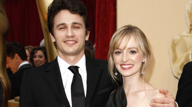 James Franco and Ahna O'Reilly arrive for the 81st Academy Awards Sunday, Feb. 22, 2009. (AP / Matt Sayles)