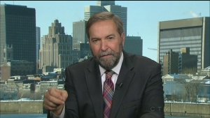 Opposition Leader Thomas Mulcair discusses the pri