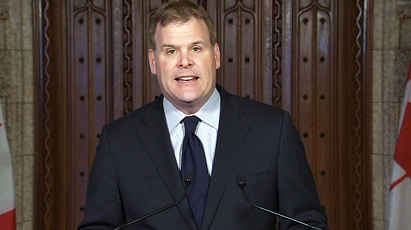 Foreign Affairs Minister John Baird speaks on the Iran nuclear deal in Ottawa, on Sunday, Nov. 24, 2013.
