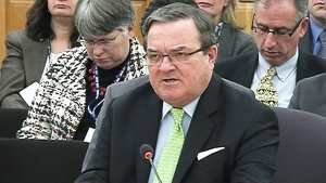 Finance Minister Jim Flaherty speaks before the Senate finance committee, Monday Nov. 25. (CTV News)