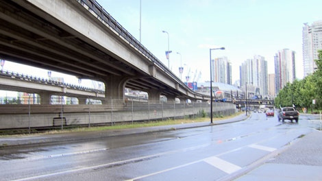 The City of Vancouver is considering whether to destroy the Georgia and Dunsmuir viaducts. July 21, 2011. (CTV)