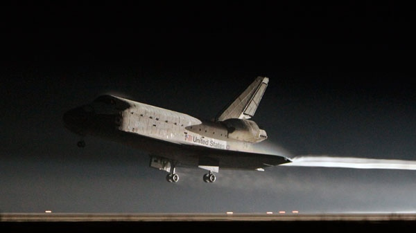 Space shuttle Atlantis lands at the Kennedy Space Center in Cape Canaveral, Fla., Thursday, July 21, 2011. (AP / John Raoux)