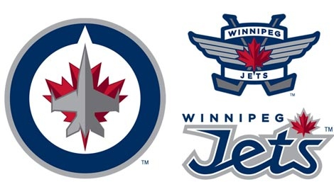 Officials showed off the team's primary and secondary logos online Friday afternoon. (image courtesy www.winnipegjets.com)