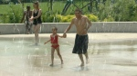 Splash pads are one way to keep cool