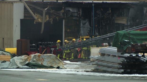 Factory fire Cambridge