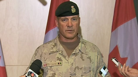 Brig.-Gen Dean Milner, commander of Canadian Forces in Afghanistan, speaks to the media on Friday, July 22, 2011.