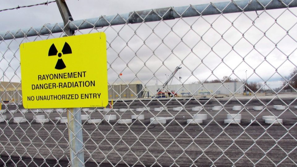Rows of radioactive waste at Bruce nuclear plant