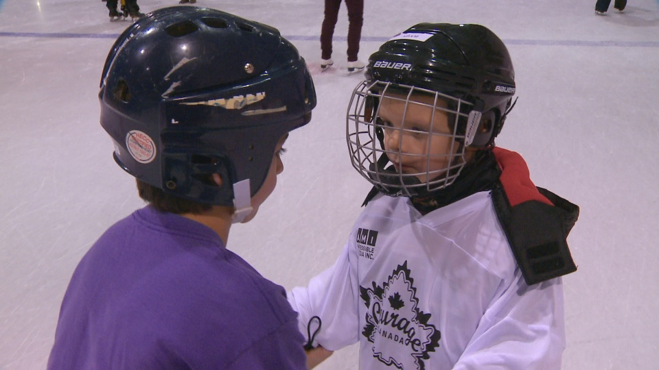Used Hockey Skates >> Blind students strap on skates with Courage Canada | CTV ...