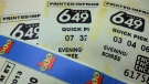 Lotto 6/49 tickets are shown in Toronto. (Richard Plume / THE CANADIAN PRESS)
