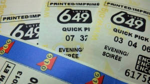 Lotto 649 tickets are shown in Toronto in a recent photo. (Richard Plume / THE CANADIAN PRESS)