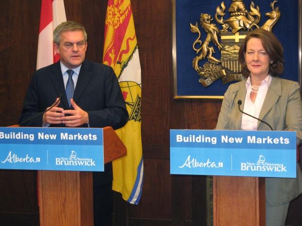 New Brunswick Premier David Alward and Alberta Pre
