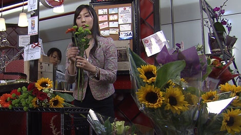 Kanako Heinrichs started a flower shop after immigrating to Canada from Japan. July 26, 2011. (CTV)