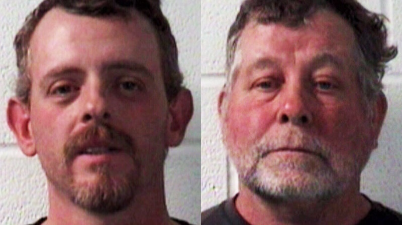 Christopher Jackson, left, was waiting for another shopper to leave a parking space when Ronnie Sharp, right, began sounding his horn behind Jackson's vehicle, the Tazewell County Sheriff's Office said.