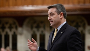 Parliamentary secretary to the prime minister Paul Calandra responds to a question during question period in the House of Commons on Parliament Hill in Ottawa on Friday, Nov. 29, 2013. (Sean Kilpatrick / THE CANADIAN PRESS)