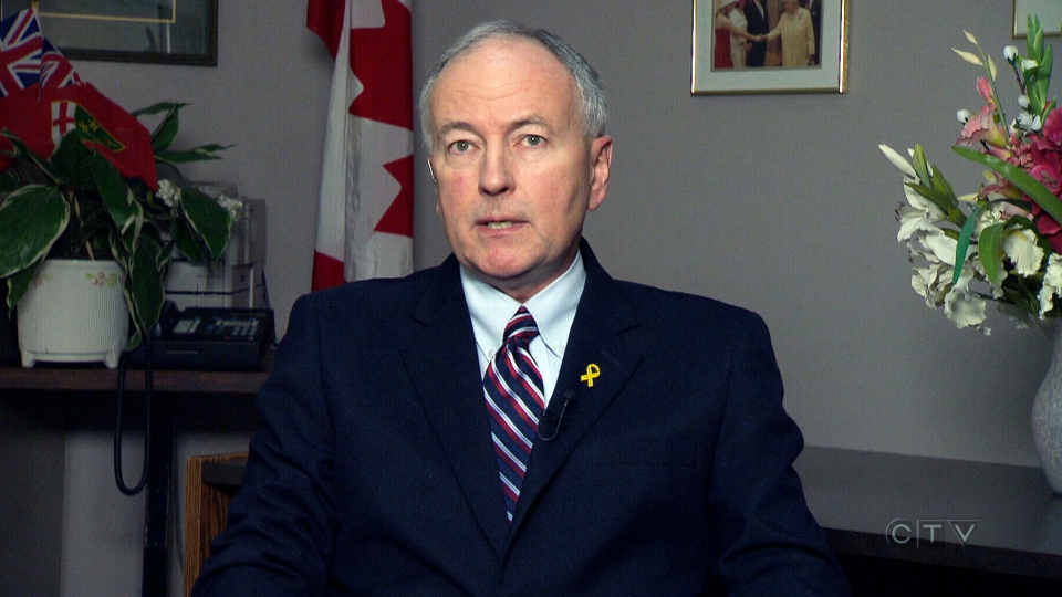 Defence Minister Rob Nicholson speaks to CTV News, Friday, Nov. 29, 2013.