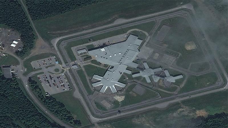 The Donnacona maximum security prison sits just we