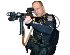Anders Behring Breivik is seen in an image from a manifesto attributed to him that was discovered. (Scanpix)